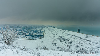 Ogosta Reservoir in winter