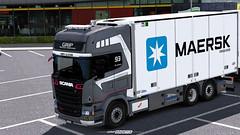 Scania R730 - Maersk Tandem WiP [ETS2] (gripshotz) Tags: scania r730 maersk grip trans brasov romania tandem euro truck simulator ets 2