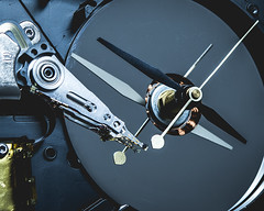 Hard Drive Clock (alexalonzo177) Tags: closeup macro harddrive clock color texture