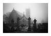 Beyhond the Gates (richieJ 11) Tags: princetown devon dartmoor church mist churchyard fog mono blackandwhite gates