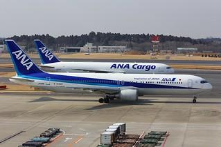 B767 JA618A + JA8323 Tokyo Narita 27.02.18