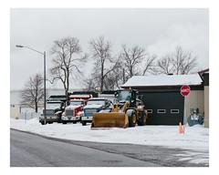 maizerets (Mériol Lehmann) Tags: landscape winter trucks truck cityscape loader topographies canada snow villedequébec québec ca