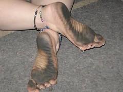 2210421940098220273jWMBFl_ph (paulswentkowski1983) Tags: dirty feet soles pitch black street filthy female calloused