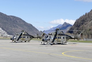 Super Puma AS332 Swiss Airforce T-318 & T-322 Alpnach Switzerland 2018