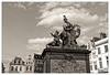 Minerve sur sa Fontaine (Jean-Marie Lison) Tags: eos80d bruxelles grandsablon fontaine monument statue noiretblanc nb monochrome sculpture