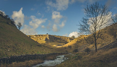 """I never passed a soul. (Ian Emerson """"I'm Back"""") Tags: lathkill peakdistrict derbyshire landscape outdoor canon valley rocks tree winter river drystone wall light clouds sky photography scenic england beauty natural monyash"""