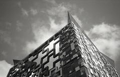 + + + (OhDark30) Tags: olympus xa2 35mm film monochrome bwfp bw blackandwhite fomapan 200 rodinal cube birmingham postmodern flats pinnacle winter sky clouds building architecture city