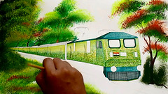 Duronto express painting. (Raj Kumar (The Rail Enthusiast)) Tags: wap7 indianrailways train duronto durontoexpress traindrawing painting abblocomotive 3phaseloco rajlocomotive
