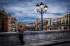 Watching (Salva Pagès) Tags: girona gerona catalonia catalunya vepre atardecer sunset riu rio river onyar pont puente bridge mirant mirando watching