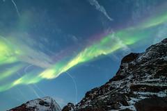 silent curtain (Stefan Giese) Tags: nikon d750 walimex 14mm walimex14mmf28 auroraborealis polarlicht northernlights grün himmel dämmerung bluehour blauestunde uttakleiv lofoten norwegen norway