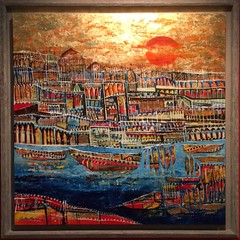 'The Day's Last Light' by Vinita Karim (olive witch) Tags: abeerhoque art bangladesh bd day dhaka feb18 february gallery indoors painting