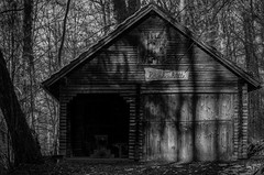 Woodhouse (alexander_skaletz) Tags: lost place lostplace tree trees landscape landscapephotography nature photography grass dark cold blackandwhite woodhouse mystical house bw village germany badenwürtemberg nikon nikond5300 wood spring sun march forrest