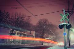 Car Crossing (Tim Loesch) Tags: newjersey nj mercercounty nightshot longexposure