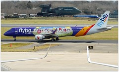 (Riik@mctr) Tags: manchester airport egcc gfbem grass airplane aircraft runway airfield flybe embraer 190195 msn 204 kids teens livery