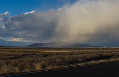 West Desert Storm (JasonCameron) Tags: utah west desert mountain cloud storm snow burst fall road side roadside