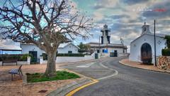 (111/18) Sa Farola (Pablo Arias) Tags: pabloarias photoshop photomatix capturenxd españa cielo nubes arquitectura carretera árbol hierba faro iglesia safarola ciudadela menorca