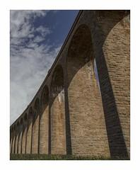 Culloden Viaduct - Scotland (memories-in-motion) Tags: railway bridge scotland viadcut culloden stone sky cloud red architecture high uk color contrast blue white canon mark iii 5d