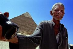 Refreshments seller - Giza Pyramids - Egypt