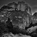 Casa Grande Peak and the Chisos Mountains (Black & White, Big Bend National Park)