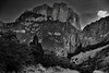 Casa Grande Peak and the Chisos Mountains (Black & White, Big Bend National Park) (thor_mark ) Tags: alongchisosbasinroad bigbendnationalpark bigbendranges blackwhite blueskieswithclouds capturenx2edited casagrande casagrandepeak chihuahuandesert chisosbasinroad chisosmountains colorefexpro day1 desert desertlandscape desertmountainlandscape desertplantlife grassyareaalongroadside hillsideoftrees intermountainwest landscape lookingsw mounthuffman mountains mountainsindistance mountainsoffindistance mountainside nature nikond800e outside portfolio project365 roadsidepulloff silverefexpro2 southwestbasinsandranges sunny transpecostexasranges trees triptobigbendnationalpark usbiospherereserve tx unitedstates