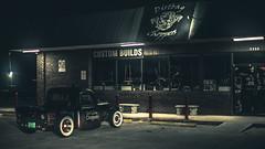 Bike Shop (3rd-Rate Photography) Tags: shop chopper motorcycle storefront antique car truck automobile automotive mayport florida 50mm 5dmarkiii jacksonville 3rdratephotography earlware 365