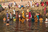 River Ganges, Varanasi (edina.cross) Tags: india asia people pilgrims bathing hindu varanasi river ganges ghat
