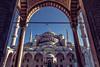 Sultan Ahmet Mosque (demerval) Tags: minaret eos camii travel sultanahmet bluemosque courtyard architecture ef24105mm canon istanbul turkey blue tr