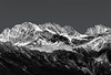 Wisps of Cloud Below (docoverachiever) Tags: landscape nature mountains glaciernationalpark canada scenery britishcolumbia blackandwhite snow