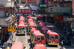 Red Minibuses lining up, waiting for passengers at a busy station in Mongkok, Hong Kong (MongkolChuewong) Tags: 2017 asia building bus buses business busy car china chinese city decker double downtown hong hongkong kok kong landscape life lining market minibus modern mong mongkok morning people public red road sky skyline station stop street sunset time times traffic transport transportation travel traveler unseen up urban wait walk yellow