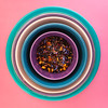 blueberry wild child tea (auntneecey) Tags: pink purple blue tea circle 365the2018edition 3652018 day70365 11mar18