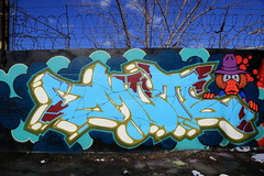dmote (Luna Park) Tags: ny nyc newyork brooklyn graffiti mural production wall lunapark dmote ps