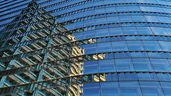 Raiffeisentower (heinzkren) Tags: colors building tower bürohaus spiegelung reflection windows fassade facade wien vienna canon powershot abstract