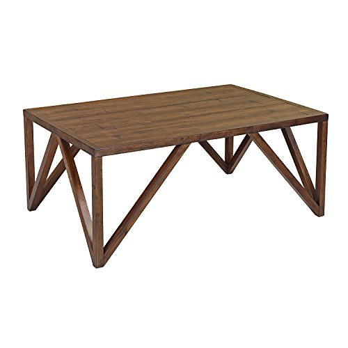 Craft and Main CFO-01281 Old World Chestnut Bali Coffee Table, 45″ x 30″