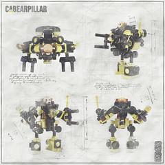 Cabearpillar Power Loader B-948X - Color scheme study (Priovit70) Tags: lego powerloader classicspace teddybear heavyweights exosuit afol moc olympuspenepl7