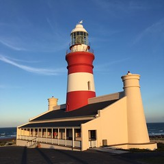 Cape Agulhas lighthouse (rjmiller1807) Tags: iphone iphonography iphonese capeagulhas agulhas lighthouse red white sky building architecture seaside westerncape southafrica african 2017 august