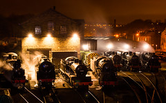 Ready to roll (Andrew-Jackson) Tags: steamtrains trains transport night yorkshire power haworth