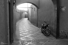 motorcycle (alamond) Tags: motorcycle street backstreet alley bw blackandwhite monochrome yazd iran canon 7d markii mkii llens ef 1740 f4 l usm alamond brane zalar morning