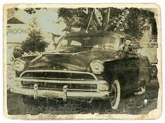Imitation old photograph (novice09) Tags: backtothefifties carshow hudson 1954 photoscape fotosketcher ipiccy
