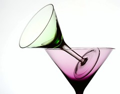 Purple & Green (Karen_Chappell) Tags: purple green white glass glasses stilllife two 2 martini triangle shapes shape pastel