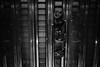 Urban B&W II (habibafoto) Tags: urban minimalism monochrome escalator street fuji xt2