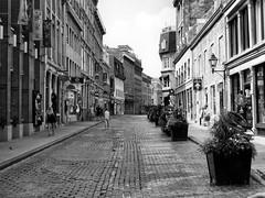 Montreal, Quebec, Canada (duaneschermerhorn) Tags: black white blackandwhite blackwhite bw noire noir blanc blanco schwartz weiss street buildings sidewalk summer people men women