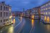 Canal Grande at dawn [IT] (ta92310) Tags: travel winter 2018 europe italie italy italia venice venise venezia veneto bluehour soir longexposure architecture gondole grandcanal canalgrande canal night canon