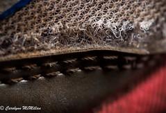 Imperfection for Macro Mondays (Carolynn McMillan) Tags: shoe fabric wearandtear wabisabi wornout macromondays imprefection