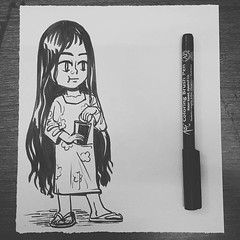 #chaibiscuit #girl #india #kid #art #illustration #sketch #dailydrawing #artist (lipuster) Tags: childhood life kids india innocence stories art illustration sketch drawing
