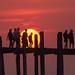 U bein bridge, sunset