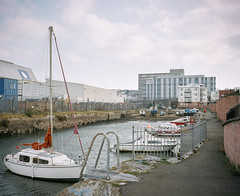 Tamar Wharf (@davidflem) Tags: devonport plymouth devon tamar mamiya7 65mm kodak portra400 120film 6x7 mediumformat istillshootfilm