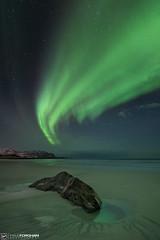 The Limelight (Paul Forgham) Tags: skagsanden lofoten norway winter auroraborealis northernlights paulforgham beach stars nightsky rock ice frozen