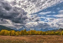 Witch Wind (Philip Kuntz) Tags: witchwind witchshapedcloud tetons autumn fall fallfoliage clouds wyoming