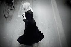 IMG_2430 (1) (JetBlakInk) Tags: women womenoffaith womenwhoclover islam streetphotography mono highvantage muslima scarflady highstreet streetscene