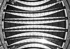Up on the roof (Joseph Pearson Images) Tags: canarywharf dlr docklandslightrailway roof fisheyelens blackandwhite bw mono london